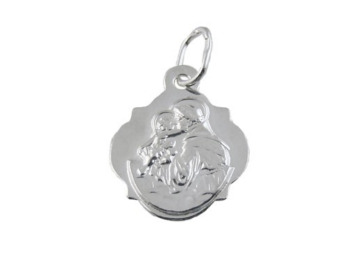 Św. Antoni. Koniczynka. Medalik w całości wykonany jest ze srebra próby 925.